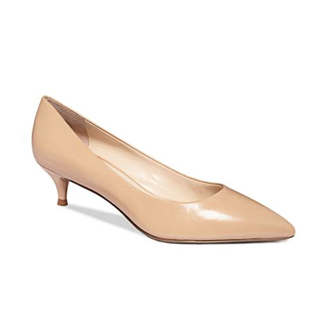 Kitten Heels Pumps nine west illumie kitten heel pumps in beige panna