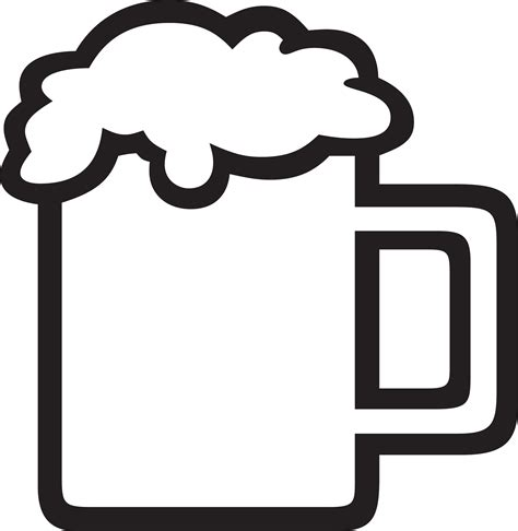 cartoon beer black and white beer vector clipart cliparting com
