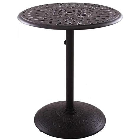Pedestal Bistro Table Patio Furniture Bistro Set Cast Aluminum 30 Quot Pedestal Table 3pc Pub Santa
