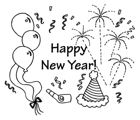 new year and color free new year s day coloring pages