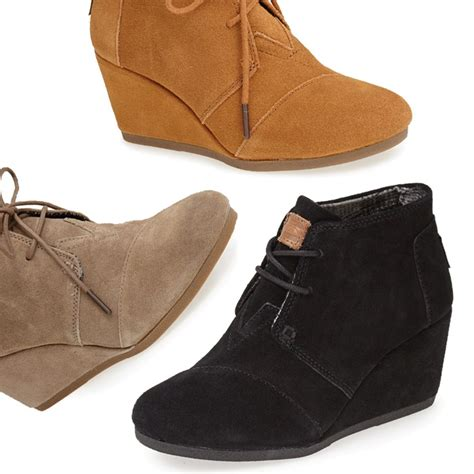 rank style toms desert wedge bootie