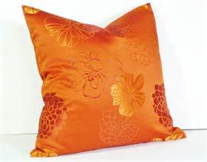 orange sofa pillows orange throw pillow decorative pillows bright by