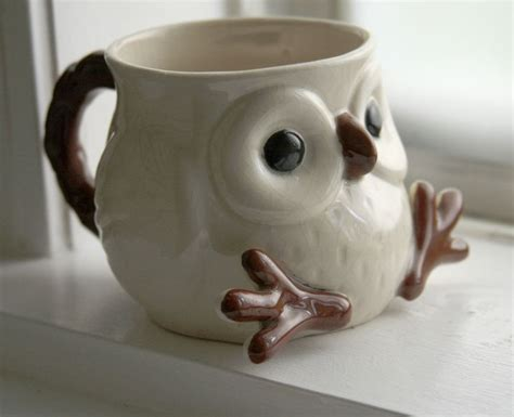 cute mugs snow owl mug with feet and face so cute snow too cute