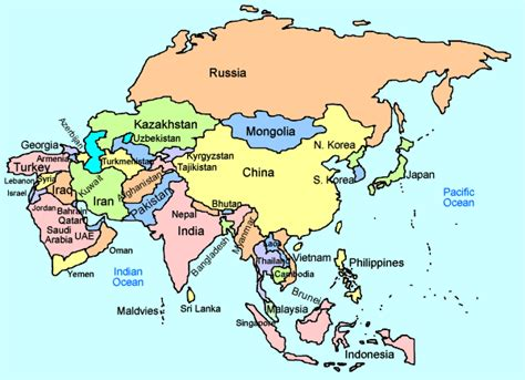 asia map with country names map of asia countries ค นหาด วย portfolio