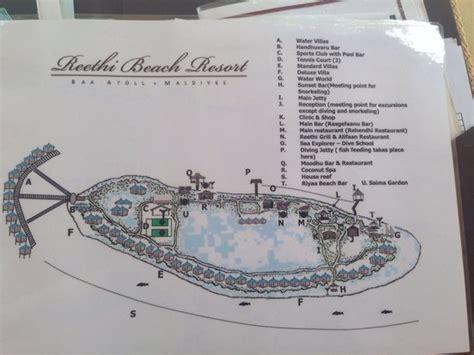 reethi island resort map map of reethi resort picture of reethi