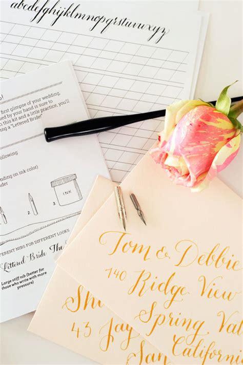diy calligraphy for wedding invitations diy calligraphy for your wedding bridal musings wedding