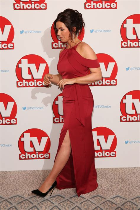Gmb Dress Berry susanna flashes some leg as she dazzles in scarlet frock news showbiz