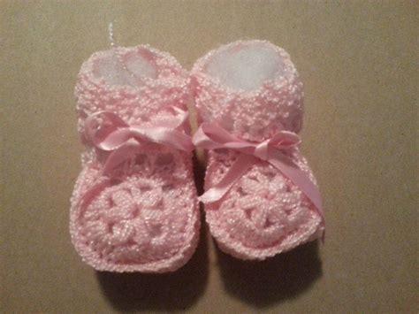 Handmade Baby Booties For Sale - adorable handmade newborn pink baby booties size 0 3
