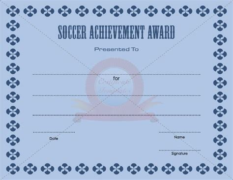soccer award certificate template 1000 images about soccer achievement award templates on