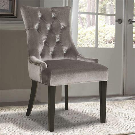 velvet dining room chairs pulaski furniture chrome velvet dining chair ds 2514 900