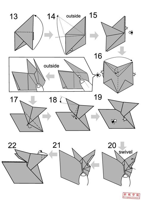 How To Make An Advanced Origami - origami rabbit origami rabbit how to origami