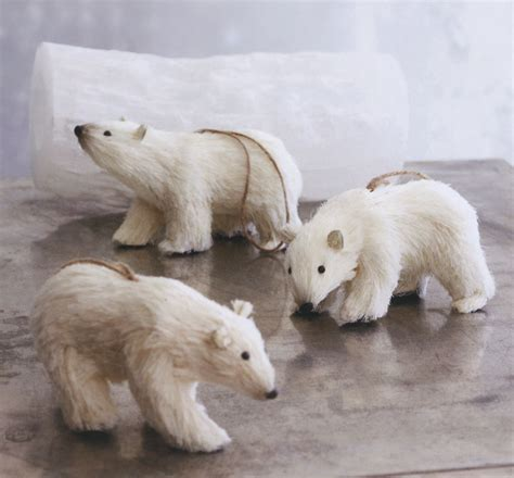 polar decorations decorative polar bears ornaments set of 3 nova68