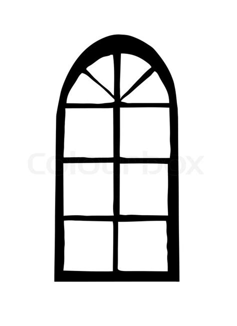 window silhouettes template vector silhouette window on white background stock