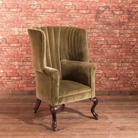 vintage armchair london antique armchair victorian scottish fireside wing back
