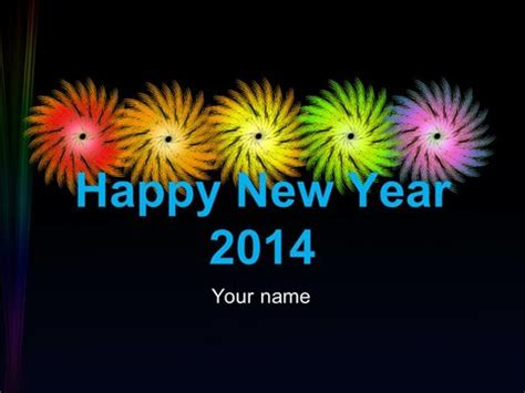Happy New Year Welcome To 2014 Powerpoint Template 2014 Powerpoint Templates