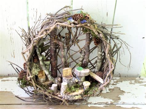 buy a fairy house woodland basket fairy house fairy furniture whimsical nature art laurie rohner studio