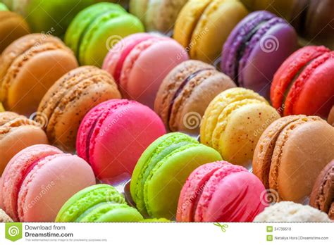 Pr Macaroon traditional colorful macarons in a box stock photo image 34739510