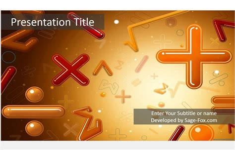 Free Math Powerpoint Template 5057 Sagefox Powerpoint Powerpoint Math Templates