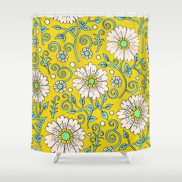 yellow flower shower curtain lemon yellow floral shower curtain by from society6 shower