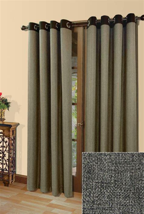window drapes canada griffin grommet room darkening 54 inch x 84 inch chocolate