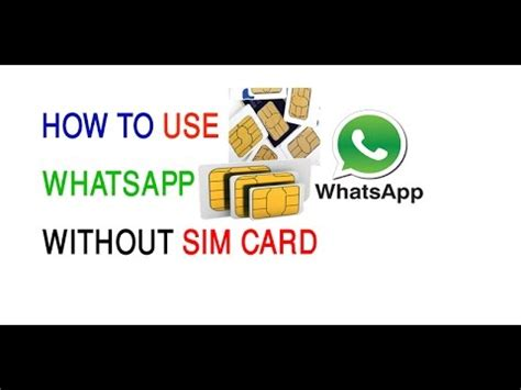 how to make a sim card into a micro sim how to make whatsapp without sim card