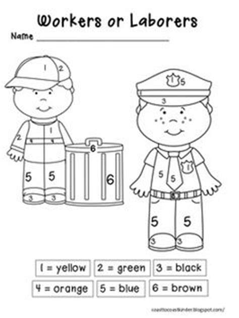 labor day coloring page kindergarten 1000 images about kindergarten community helpers on