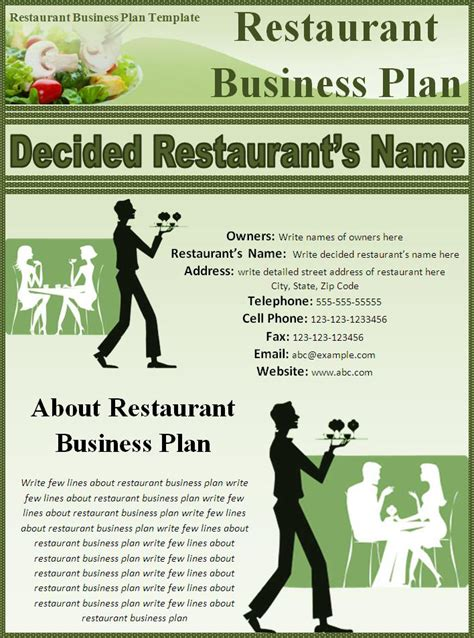 5 Free Restaurant Business Plan Templates Excel Pdf Formats Restaurant Business Template