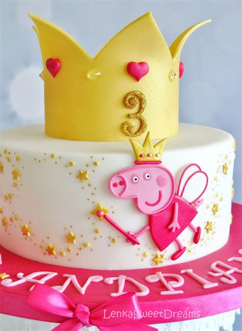 peppa pug cake princess peppa pig cake cakecentral