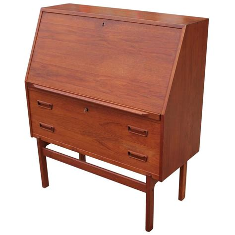 drop front desk wonderful teak drop front desk at 1stdibs