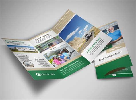 rv sales tri fold brochure template