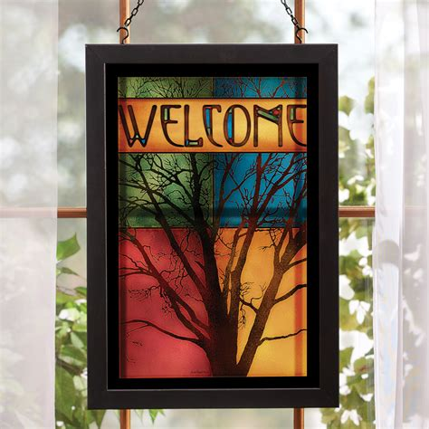 Overstock Wall Decor by Morning Tree Stained Glass Wall Overstock