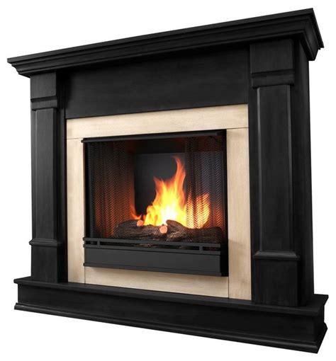 silverton gel fireplace black indoor