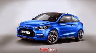 hyundai i20 coupe takes a turn for the turbo via rendering