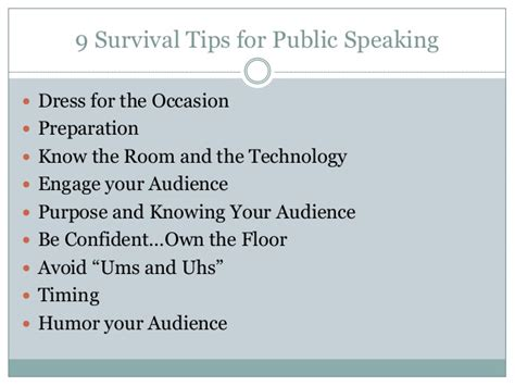 Tips For Speaking 2 by 9 Survival Tips For Speaking