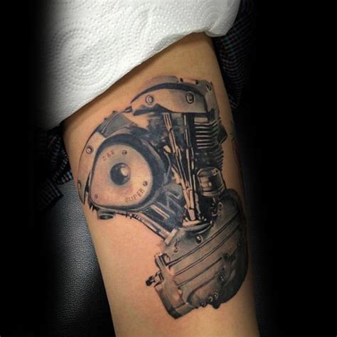 50 engine tattoos for men motor design ideas