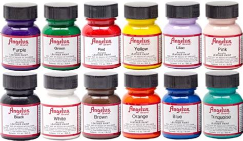angelus acrylic leather paint starter kit b00a4fl7nk