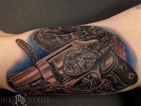 how to put together a tattoo gun snake and gun by mike devries tattoos