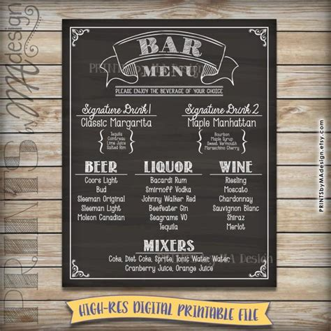 electronic age chalkboard sign chalkboard menu signs by bar menu sign chalkboard drink alcohol selection