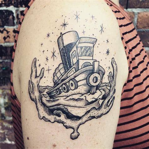 tugboat tattoo sailor