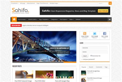 sahifa theme html sahifa template for blogger free download adterian