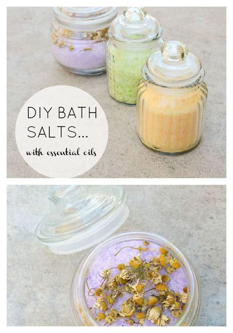 Easy Handmade Diy Bath Salts - diy bath salts with essential oils diy essentialoils health
