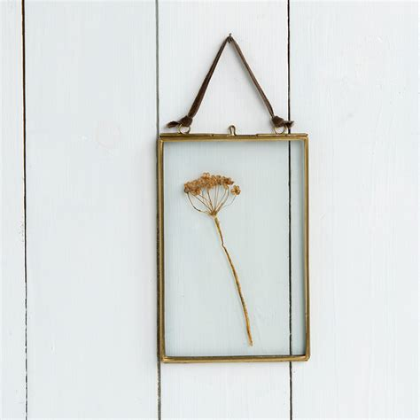 frame hanging hanging brass frame 15x10cm rex london at dotcomgiftshop