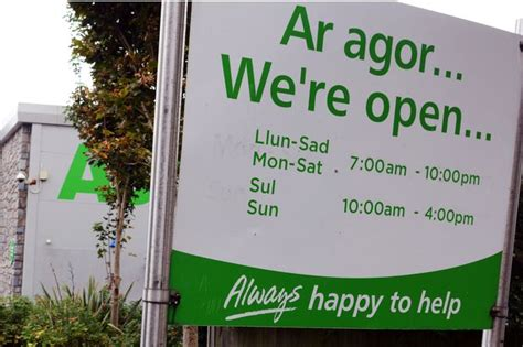 asda opening times gwynedd supermarket opening times for boxing