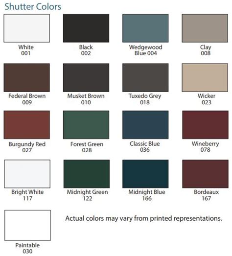 mid america shutter colors mid america shutter sles 16 color options from buymbs