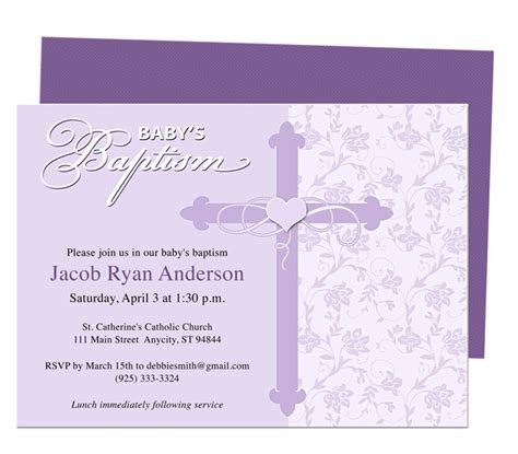 christening invite template baby baptism christening invitations christening baby