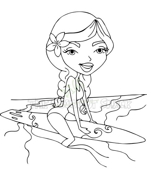 coloring pages surfer girl free barbie surfer coloring pages