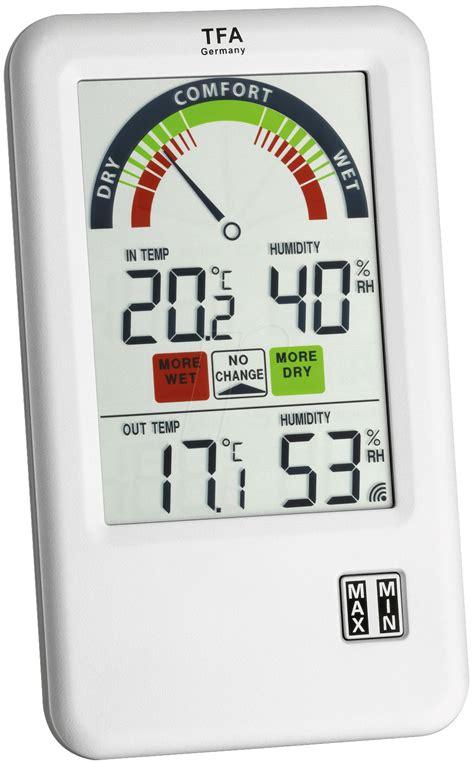 Hygrometer Thermometer Digital Ruangan Tfa Dostmann Germany ws 30345 bel air radio thermo hygrometer at reichelt elektronik
