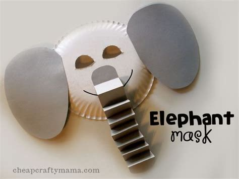 Paper Mask Martin martin o malley letter crafts and zoo animals on