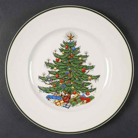 cuthbertson christmas tree thin green band dinner plate ebay