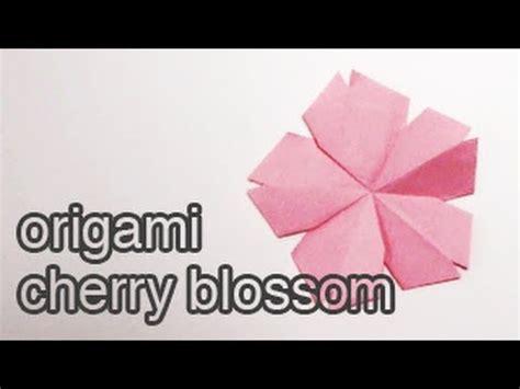 tutorial origami cherry blossom origami cherry blossom tutorial diy youtube